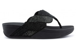 FITFLOP PAISLEY ROPE TOE THONGS Sandalen BLACK