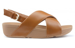 SANDALEN FITFLOP LULU CROSS ACHTERBAND K03 BROWN